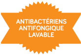 Antibactérien - antifongique - lavable